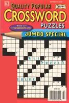 Quality Popular Crossword Puzzles Jumbo Magazine 10/19/2009