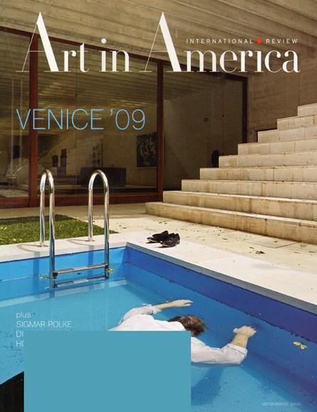 Art In America Cover - 9/1/2009