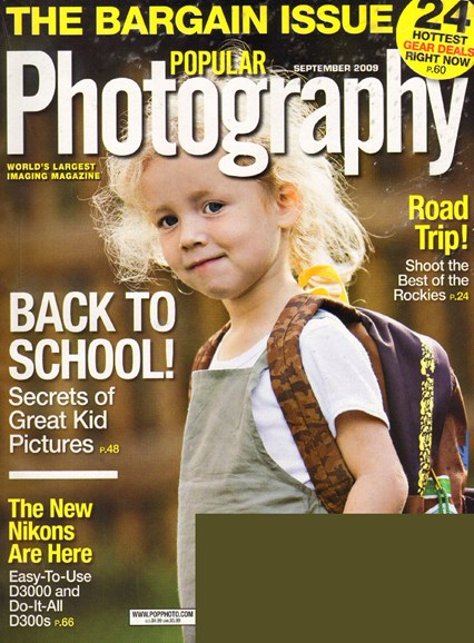 Popular Photography Cover - 9/1/2009