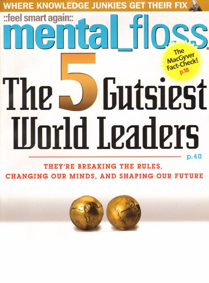 Mental Floss Cover - 9/1/2009