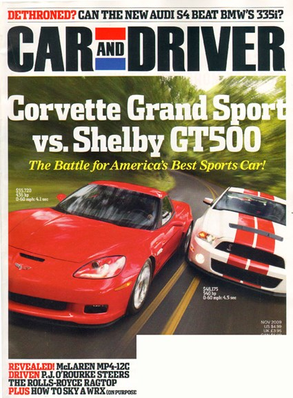 Car And Driver Cover - 11/1/2009