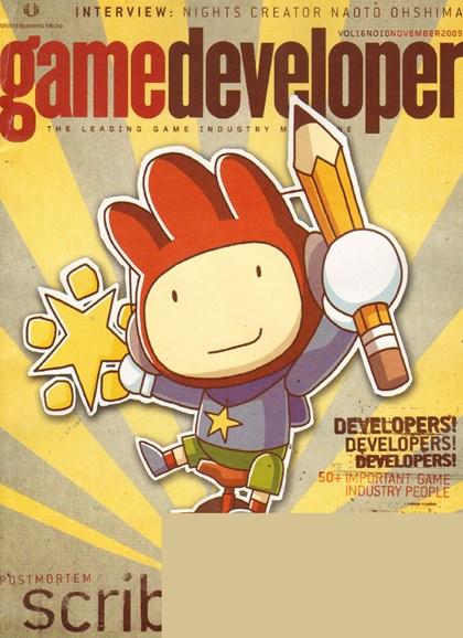 Game Developer Cover - 11/1/2009