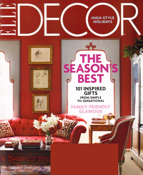 ELLE DECOR Cover - 12/1/2009