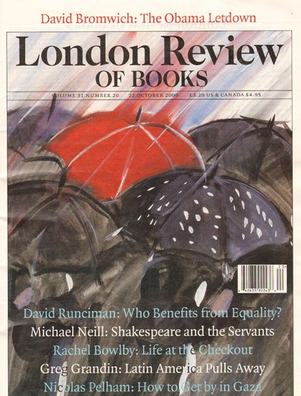 London Review Of Books Cover - 10/22/2009