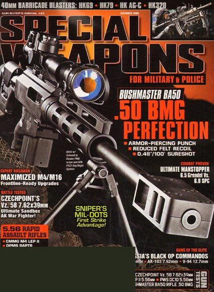 Special Weapons for Military & Police Cover - 12/1/2009