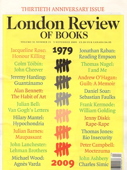London Review Of Books Cover - 11/5/2009