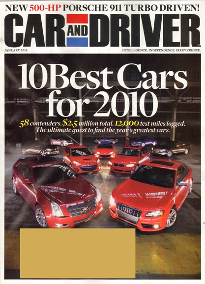 Car And Driver Cover - 1/1/2010