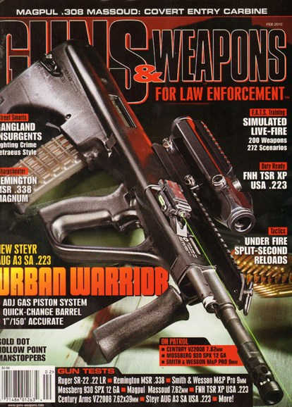 Guns & Weapons For Law Enforcement Cover - 2/1/2010