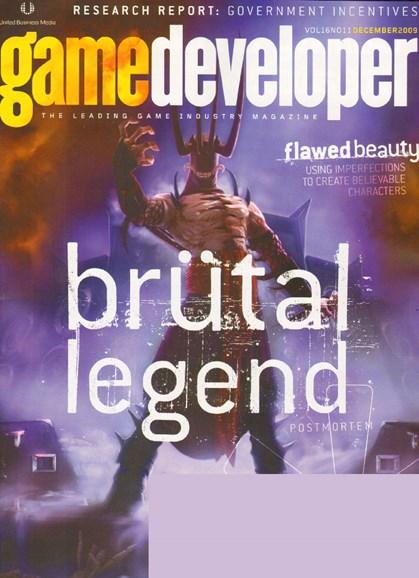 Game Developer Cover - 12/1/2009