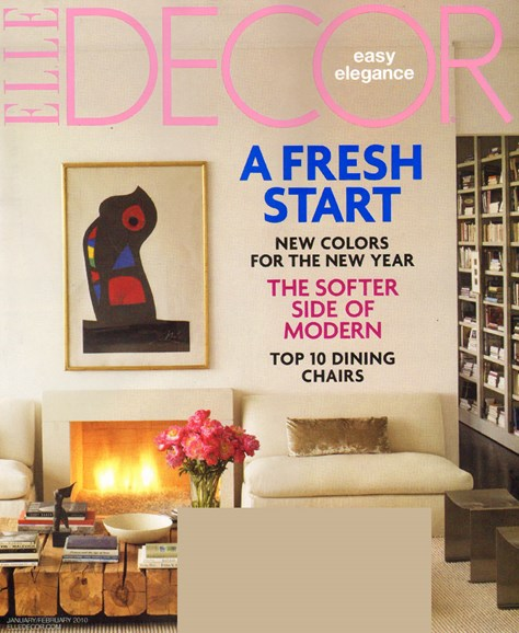 ELLE DECOR Cover - 2/1/2010