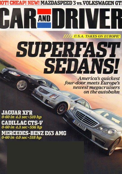 Car And Driver Cover - 12/1/2009