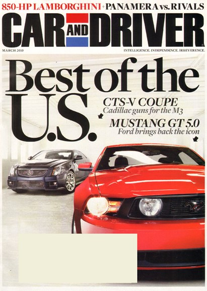 Car And Driver Cover - 3/1/2010