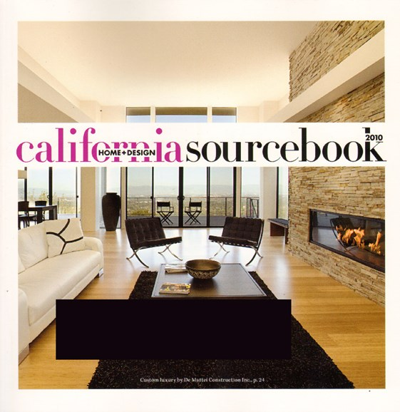 California Home & Design Cover - 1/1/2010