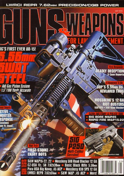 Guns & Weapons For Law Enforcement Cover - 5/1/2010