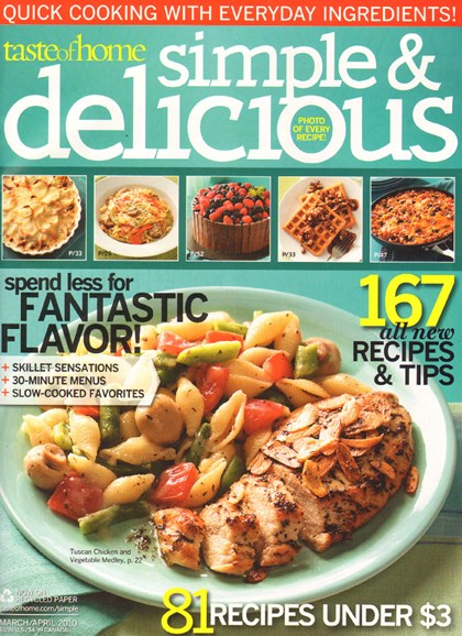 Simple & Delicious Cover - 4/1/2010
