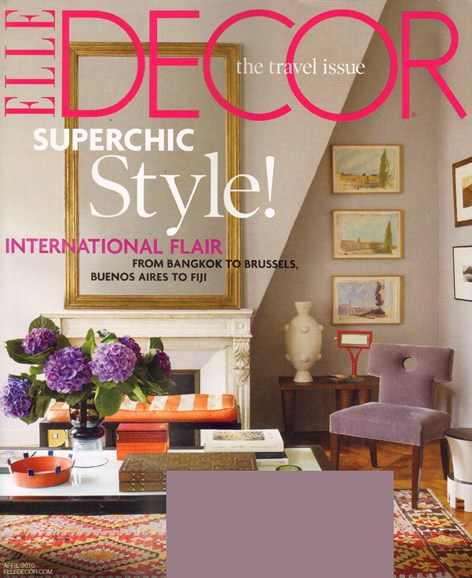 ELLE DECOR Cover - 4/1/2010