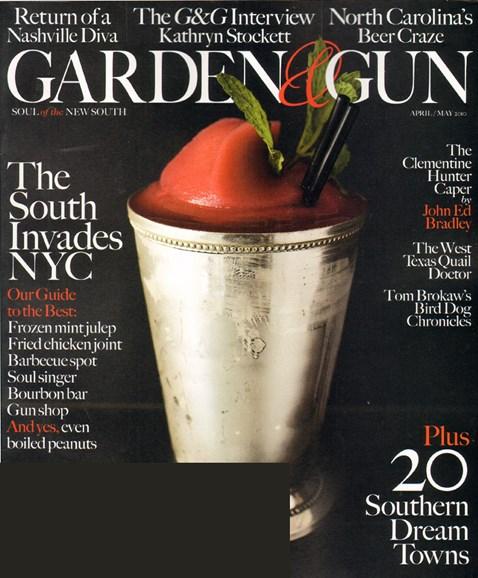 Garden & Gun Cover - 4/1/2010