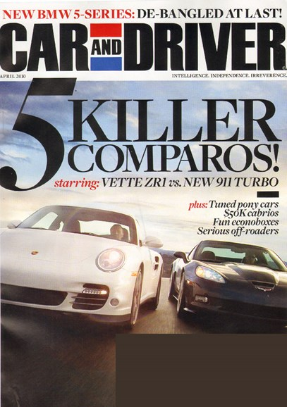 Car And Driver Cover - 4/1/2010