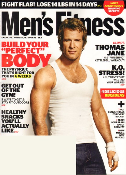 Men's Fitness Cover - 6/1/2010