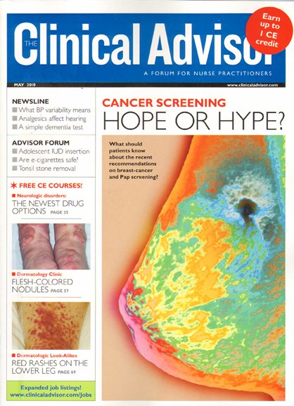 Clinical Advisor Cover - 5/1/2010