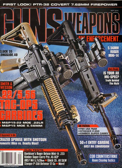Guns & Weapons For Law Enforcement Cover - 9/1/2010