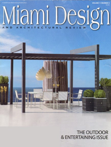 Miami Design & Architectural Review Cover - 7/1/2010