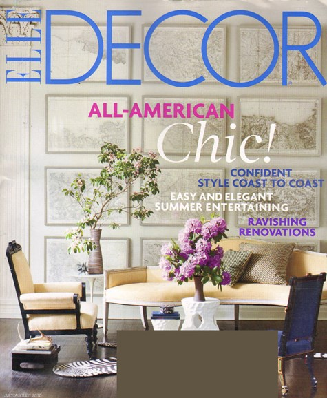 ELLE DECOR Cover - 7/1/2010