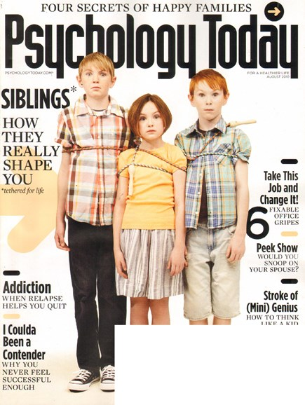 Psychology Today Cover - 8/1/2010