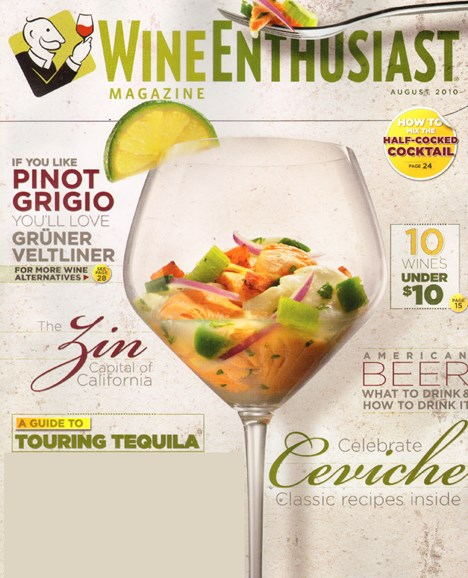 Wine Enthusiast Cover - 8/1/2010