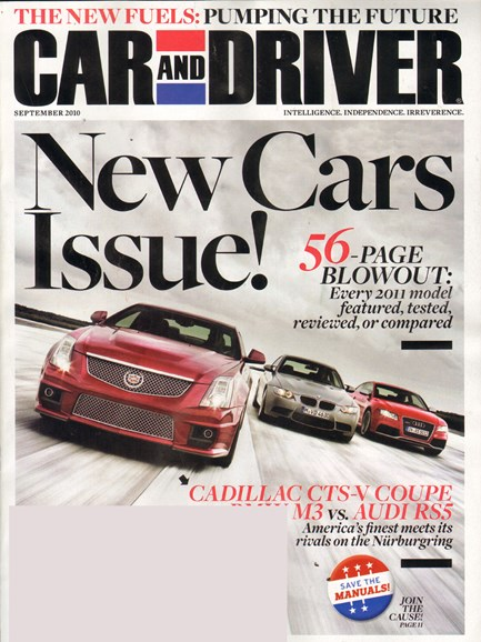 Car And Driver Cover - 9/1/2010