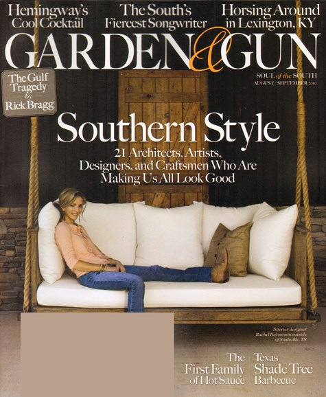 Garden & Gun Cover - 8/1/2010