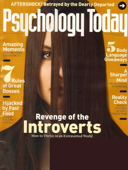 Psychology Today Cover - 10/1/2010