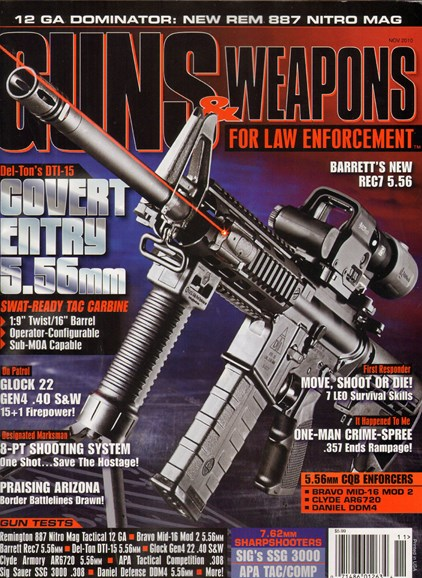 Guns & Weapons For Law Enforcement Cover - 11/1/2010