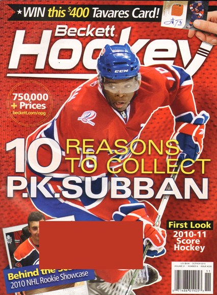 Beckett Hockey Cover - 10/1/2010