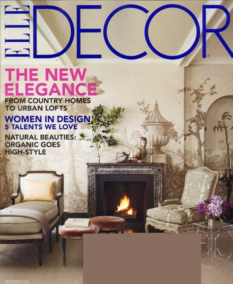 ELLE DECOR Cover - 11/1/2010