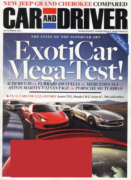Car And Driver Cover - 11/1/2010