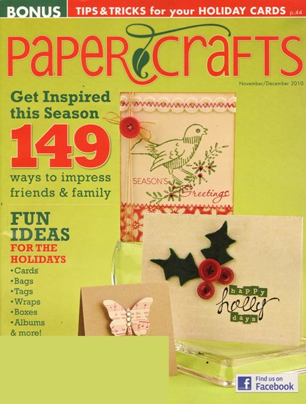 Paper Crafts Cover - 11/1/2010
