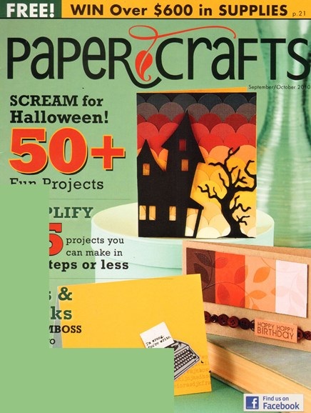 Paper Crafts Cover - 9/1/2010