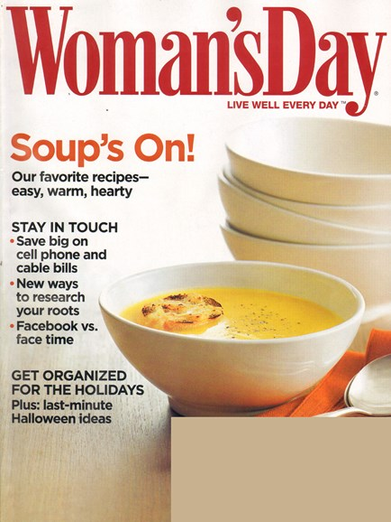 Woman's Day Cover - 11/1/2010