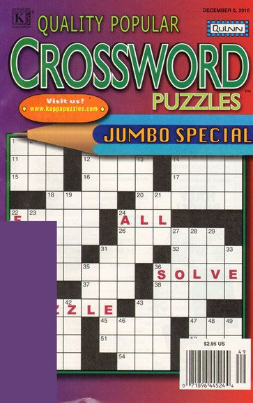 Quality Popular Crossword Puzzles Jumbo Cover - 12/6/2010