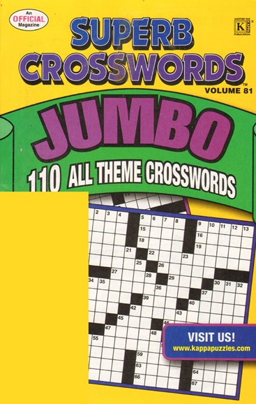Superb Crosswords Jumbo Cover - 11/1/2010