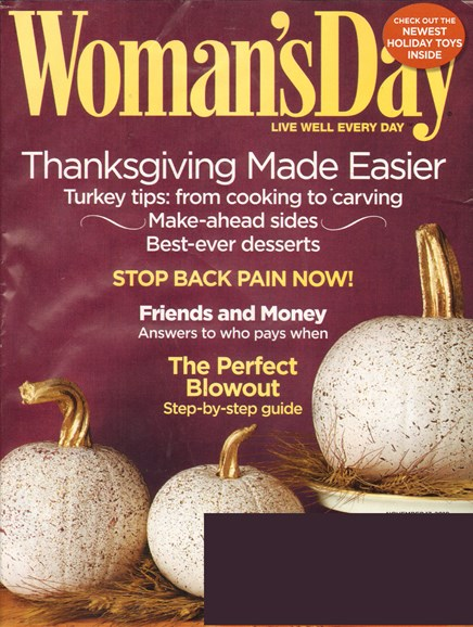 Woman's Day Cover - 11/15/2010