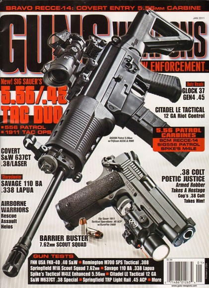 Guns & Weapons For Law Enforcement Cover - 1/1/2011