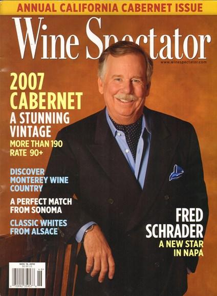 Wine Spectator Cover - 11/15/2010