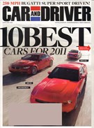 Car And Driver Magazine 1/1/2011