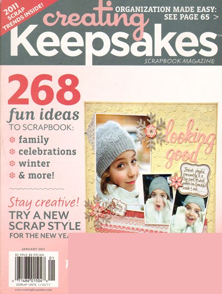 Creating Keepsakes Cover - 1/1/2011