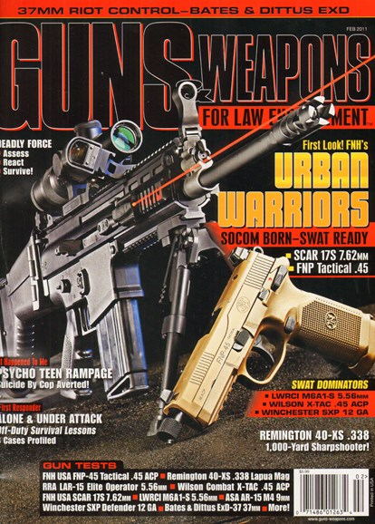 Guns & Weapons For Law Enforcement Cover - 2/1/2011