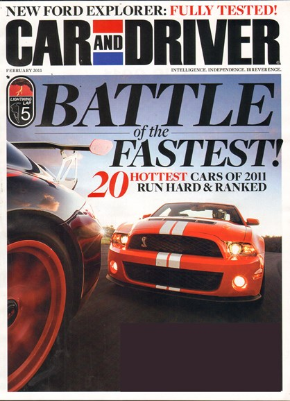 Car And Driver Cover - 2/1/2011