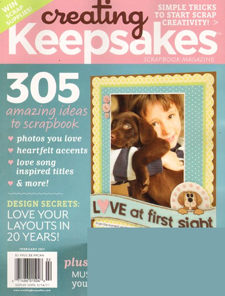 Creating Keepsakes Cover - 2/1/2011