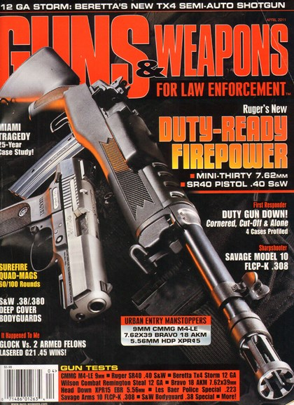 Guns & Weapons For Law Enforcement Cover - 4/1/2011